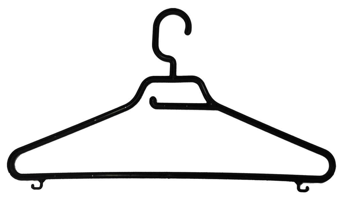 Вешалка BranQ Keeper, с перекладиной, длина 42,5 смU210DFВешалка BranQ Keeper изготовлена из прочного пластика. Она оснащена закругленными плечиками, перекладиной и крючками. Вешалка - это незаменимая вещь для того, чтобы ваша одежда всегда оставалась в хорошем состоянии.