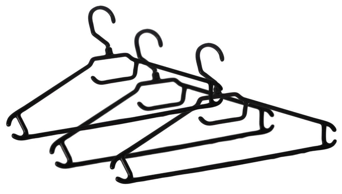Набор вешалок для одежды BranQ, цвет: черный, размер 48-50, 3 штBQ1884ЧРНабор BranQ состоит из 3 вешалок для одежды, которые изготовлены из высококачественного пластика. Изделия оснащены перекладиной и боковыми крючками. Вешалка - это незаменимая вещь для того, чтобы одежда всегда оставалась в хорошем состоянии и имела опрятный вид.Размер одежды: 48-50.Размер одной вешалки: 40,5 х 20,5 х 3 см.