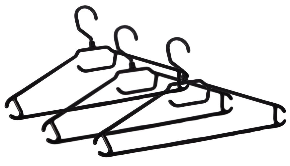 Вешалка BranQ, с перекладиной, размер 52-54, 3 шт1092019Комплект BranQ состоит из трех облегченных вешалок для легкой одежды. Изделия изготовлены из прочного пластика. Вешалки оснащены закругленными плечиками, перекладиной и крючками. Вешалка - это незаменимая вещь для того, чтобы ваша одежда всегда оставалась в хорошем состоянии.