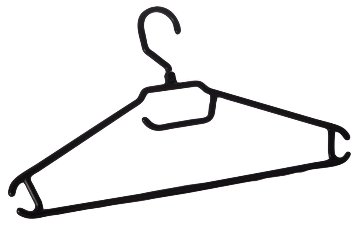 Вешалка BranQ, с перекладиной, размер 52-54ES-412Вешалка BranQ изготовлена из прочного пластика и предназначена для облегченных для легкой одежды. Она оснащена закругленными плечиками, перекладиной и крючками. Вешалка - это незаменимая вещь для того, чтобы ваша одежда всегда оставалась в хорошем состоянии.