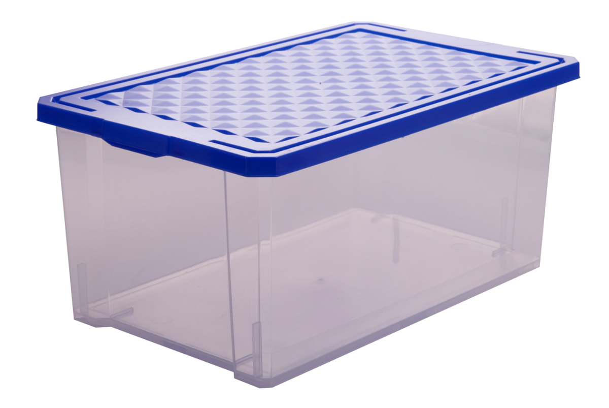 Ящик для хранения BranQ Optima, цвет: синий, прозрачный, 12 лRG-D31SУниверсальный ящик для хранения BranQ Optima, выполненный из прочного пластика, поможет правильно организовать пространство в доме и сэкономить место. В нем можно хранить все, что угодно: одежду, обувь, детские игрушки и многое другое. Прочный каркас ящика позволит хранить как легкие вещи, так и переносить собранный урожай овощей или фруктов. Изделие оснащено крышкой, которая защитит вещи от пыли, грязи и влаги.