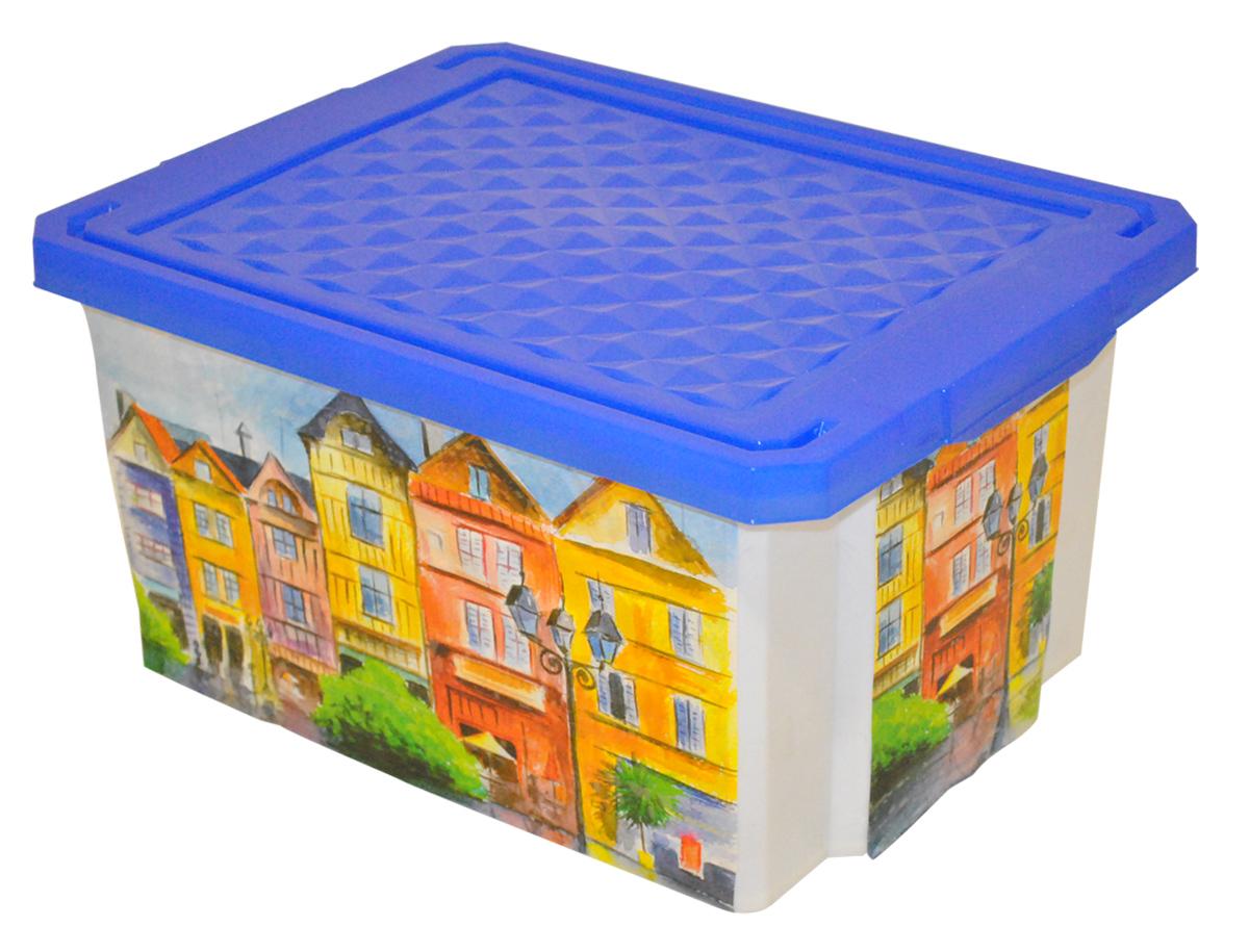 Ящик для хранения BranQ Optima. Город, 12 лU210DFУниверсальный ящик для хранения BranQ Optima. Город, выполненный из прочного пластика, поможет правильно организовать пространство в доме и сэкономить место. Ящик, декорированный оригинальным принтом, впишется в любой интерьер и дополнит его. В нем можно хранить все, что угодно: одежду, обувь, детские игрушки и многое другое. Прочный каркас ящика позволит хранить как легкие вещи, так и переносить собранный урожай овощей или фруктов. Изделие оснащено крышкой, которая защитит вещи от пыли, грязи и влаги.