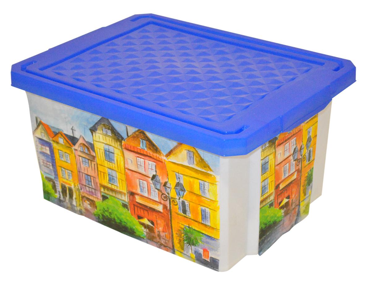 Ящик для хранения BranQ Optima. Город, 17 лU210DFУниверсальный ящик для хранения BranQ Optima. Город, выполненный из прочного пластика, поможет правильно организовать пространство в доме и сэкономить место. Ящик, декорированный оригинальным принтом, впишется в любой интерьер и дополнит его. В нем можно хранить все, что угодно: одежду, обувь, детские игрушки и многое другое. Прочный каркас ящика позволит хранить как легкие вещи, так и переносить собранный урожай овощей или фруктов. Изделие оснащено крышкой, которая защитит вещи от пыли, грязи и влаги.