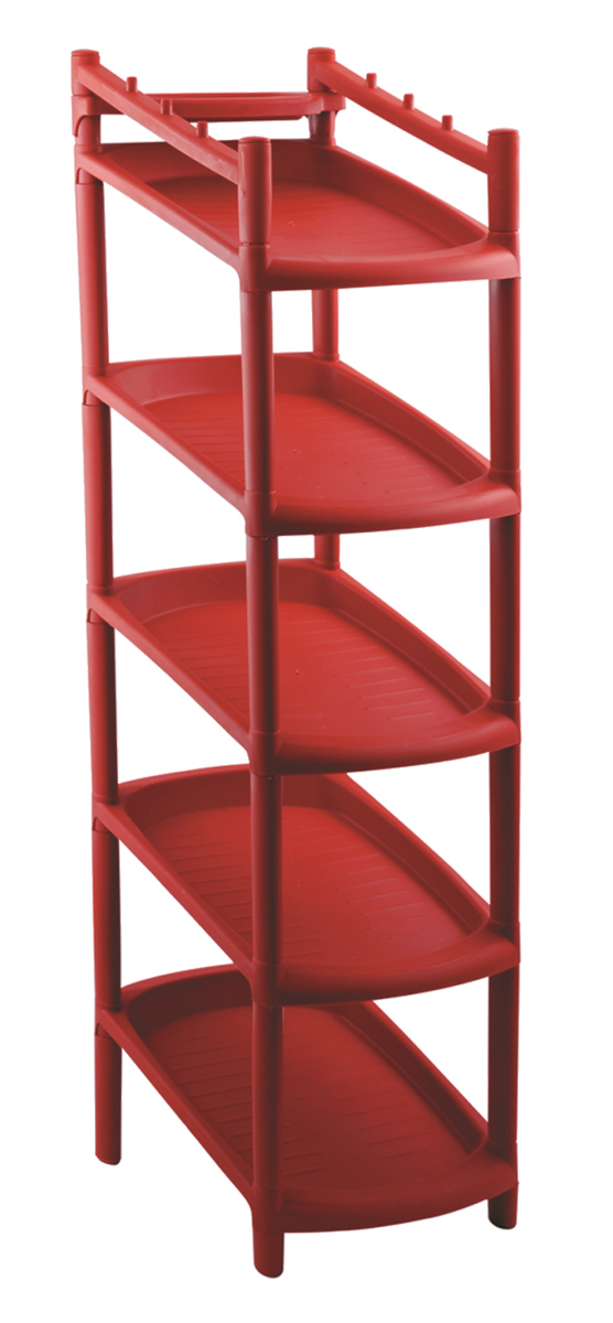 Этажерка для обуви BranQ, 5-ярусная, цвет: терракотовый, 48 х 25,5 х 24 см10503Этажерка BranQ с 5 полками выполнена из высококачественного пластика и предназначена для хранения обуви в прихожей. Очень удобная и компактная, но в тоже время вместительная, этажерка прекрасно впишется в пространство вашей прихожей. Легко собирается и разбирается.