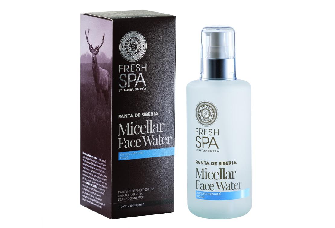 Fresh Spa Вода мицелярная Panta De Siberika, 200 млFS-00897Нежная мицеллярная вода с активным натуральным составом тщательно очищает кожу от макияжа и различных загрязнений, питает и увлажняет, идеально тонизирует кожу лица, не повреждая ее гидро – липидный слой. Панты северного оленя содержат уникальный комплекс питательных веществ: 20 аминокислот, 25 микроэлементов,минеральные соли, сложные органические соединения, энзимы и витамины, проникая в кожу, активизируют клеточный метаболизм. Насыщают кожу всеми необходимыми витаминами и микроэлементами, восстанавливают ее упругость и заметно омолаживают. Органический экстракт белой даурской розы активизирует обменные процессы, выравнивает цвет лица. Повышает иммунитет и защищает кожу от обезвоживания. Дарит нежный тонкий аромат и поднимает настроение. Органическийэкстракт исландского мха обладает антибактериальными и антисептическими свойствами, смягчает и заживляет кожу.Эффект: Кожа бережно и тщательно очищена от загрязнений и макияжа; безупречное чувство свежести.