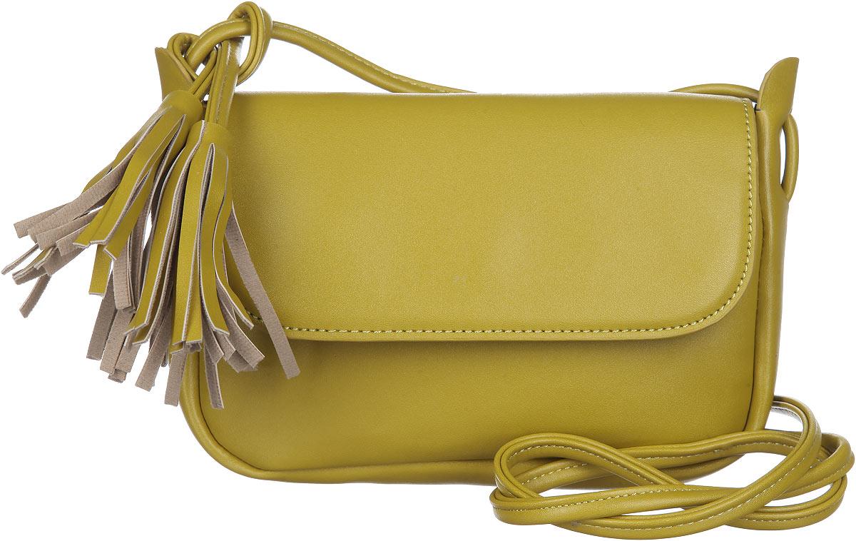 Сумка женская Orsa Oro, цвет: горчичный. D-214/523008Изысканная женская сумка Orsa Oro выполнена из экокожи. Сумка закрывается клапаном на магнитную кнопку. Внутри одно большое отделение с вшитым карманом на молнии. Сумка оснащена плечевым ремнем декорированным кистями из экокожи.Практичная и стильная сумка прекрасно завершит ваш образ.