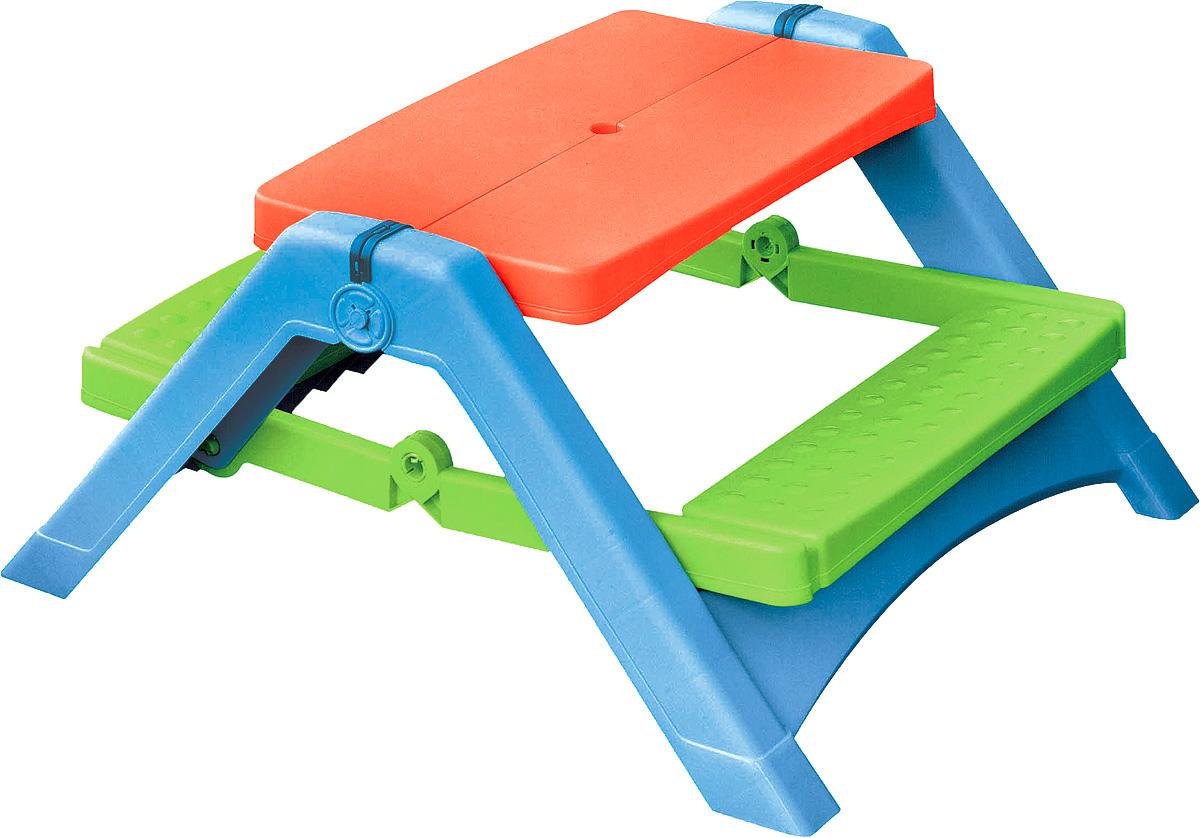 """Собираетесь на природу? Не забудьте взять детский столик для пикника. Столик """"PalPlay"""" выполнен в ярком дизайне, имеет удобную и прочную конструкцию. Благодаря тому, что пластик, из которого сделан столик, устойчив к воздействию солнечных лучей и других природных явлений, использовать столик можно не только дома, но и на улице. Столик легко складывается и занимает мало места при транспортировке. Стол предназначен для 4 детей от 2 лет и весом до 20 кг."""