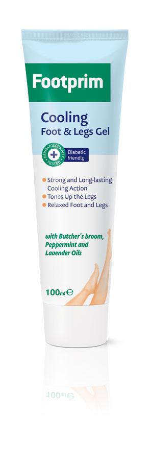 Footprim Гель для ног охлаждающий Cooling Foot&Legs Gel, 100 мл302051Cooling Foot&Leg Gel интенсивно и длительно охлаждает горячие и тяжелые ноги. Экстракт иглицы колючей повышает тонус вен и улучшает кровообращение. Комбинация экстрактов мяты и лаванды снимает напряжение. Чувствуйте свои ноги легкими, свежими и отдохнувшими. Продукт тестирован дерматологически.