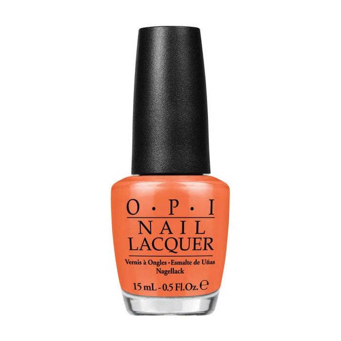 OPI Лак для ногтей Orange You Stylish!, 15 млSC-FM20104Лак для ногтей OPI быстросохнущий, содержит натуральный шелк и аминокислоты. Увлажняет и ухаживает за ногтями. Форма флакона, колпачка и кисти специально разработаны для удобного использования и запатентованы.