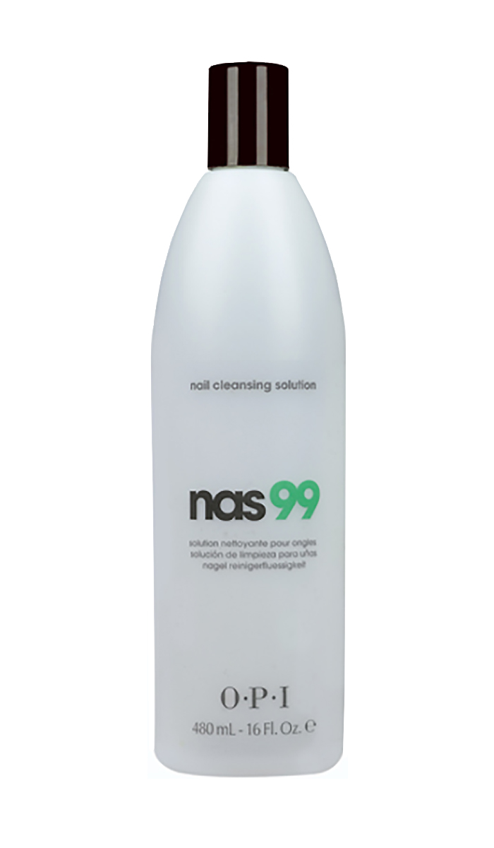 OPI Дезинфицирющая жидкость для ногтей Nas-99, 480 млPC476Очищающее средство для ногтей с антисептическим эффектом НАС-99 OPI. Обязательно использовать для дезинфекции и обезжиривания ногтей, инструментов в процедурах маникюра и педикюра и моделирования искусственных ногтей. Содержит Тимол, предотвращающий развитие грибка ногтей и бактерий. Не содержит воды и удаляет излишки влаги и масла с поверхности ногтевой пластины.