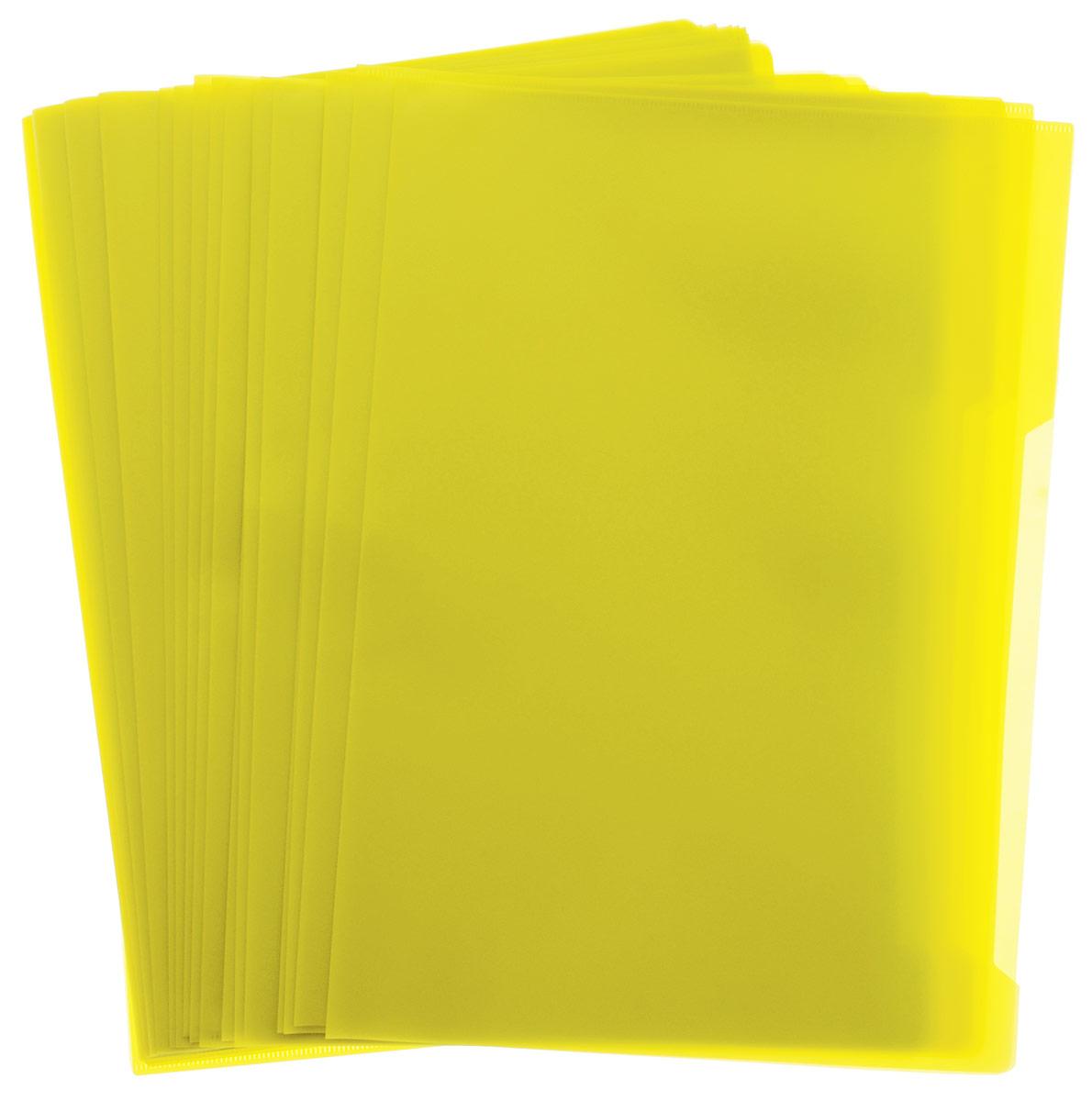 Durable Папка-уголок цвет желтый 50 шт37838_синий, розовыйПапка-уголок Durable, изготовленная из высококачественного полипропилена, это удобный и практичный офисный инструмент, предназначенный для хранения и транспортировки рабочих бумаг и документов формата А4. Папка оснащена выемкой для перелистывания листов. В наборе - 50 папок.Папка-уголок - это незаменимый атрибут для студента, школьника, офисного работника. Такая папка надежно сохранит ваши документы и сбережет их от повреждений, пыли и влаги.