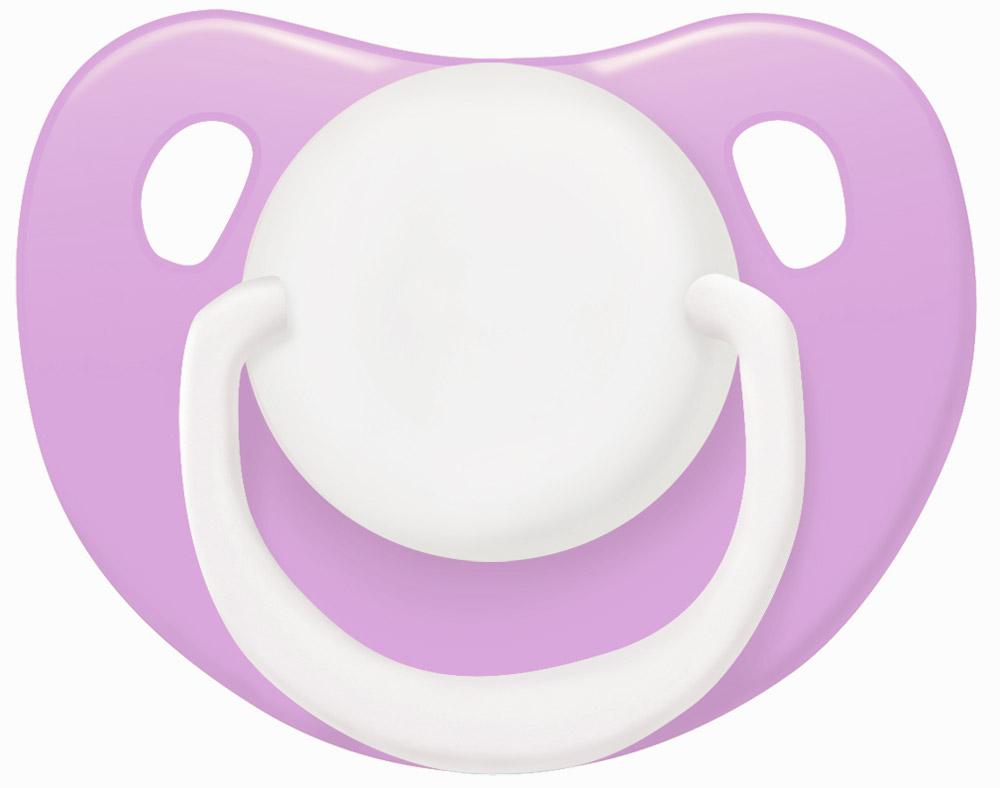 Lubby Пустышка силиконовая Классика от 0 месяцев цвет сиреневый