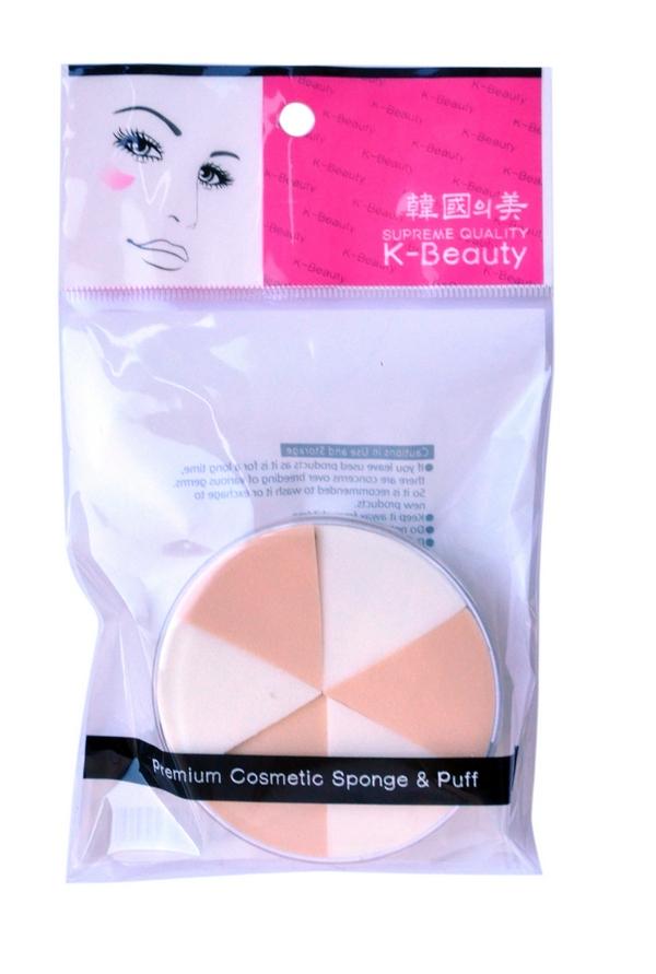 K-Beauty Спонж косметический, двухцветный, 6 шт1301210Косметический спонж предназначен для нанесения тональных средств (корректора, тонального крема, румян, пудры и т.д.), а также коррекции макияжа. Спонж позволяет равномерно распределить не только сухие, но и кремовые текстуры, а его удобная треугольная форма подходит для обработки таких труднодоступных зон, как область вокруг глаз и носогубные складки.Спонж упакован в пластиковый кейс, состоит из 6 отрывных сегментов.Мягкий и нежный спонж не травмирует, подходит даже для чувствительной кожи.