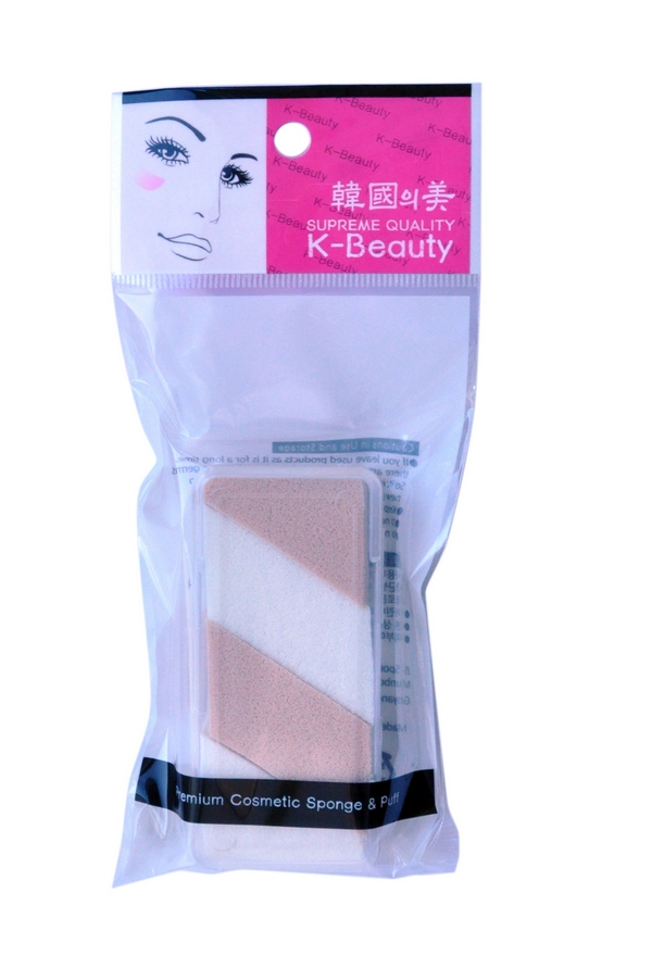K-Beauty Спонж косметический двухцветный, 4 шт28032022Косметический спонж предназначен для нанесения тональных средств (корректора, тонального крема, румян, пудры и т.д.), а также коррекции макияжа. Спонж позволяет равномерно распределить не только сухие, но и кремовые текстуры, а его удобная форма подходит для обработки таких труднодоступных зон, как область вокруг глаз и носогубные складки.Спонж упакован в пластиковый кейс, состоит из 4 отрывных сегментов.Мягкий и нежный спонж не травмирует, подходит даже для чувствительной кожи.
