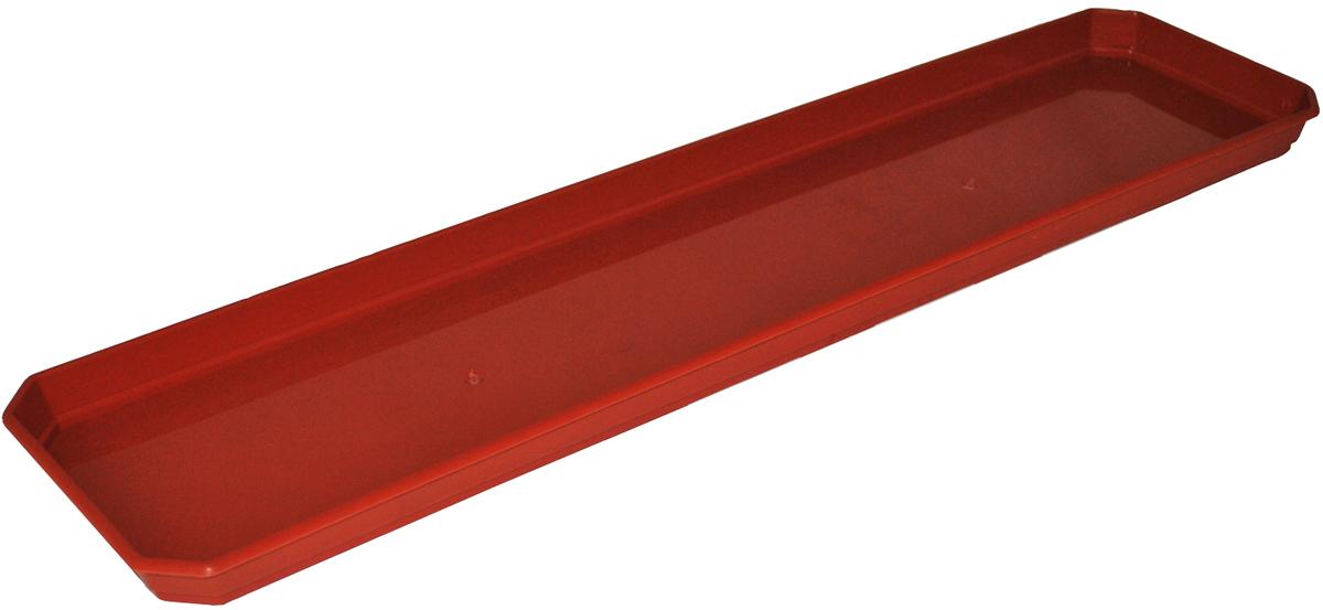 Поддон для балконного ящика InGreen, цвет: терракотовый, длина 60 см20157Поддон для балконного ящика InGreen выполнен из прочного цветного пластика. Изделие предназначено для стока воды.