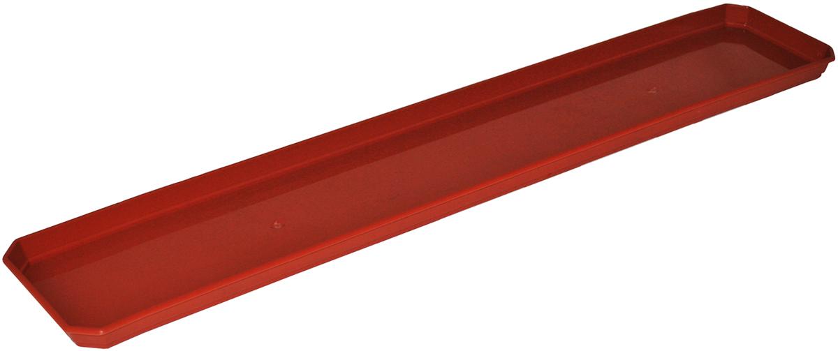 Поддон для балконного ящика InGreen, цвет: терракотовый, длина 80 смС119Поддон для балконного ящика InGreen выполнен из прочного цветного пластика. Изделие предназначено для стока воды.