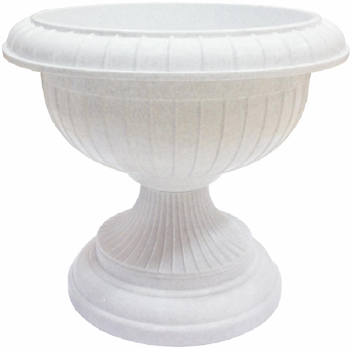 Вазон InGreen, цвет: мраморный, высота 33 смING1451МРВазон InGreen, выполненный из высококачественного пластика, станет прекрасным элементом декора загородного дома, квартиры, офиса или любого другого помещения. Вазон имеет сборную конструкцию из 2 частей: чаши и ножки. Изделие выполнено в классическом стиле и может быть установлено как на балюстраду, так и на ровную поверхность.Такой вазон прекрасно подойдет для выращивания цветов и однолетних растений.