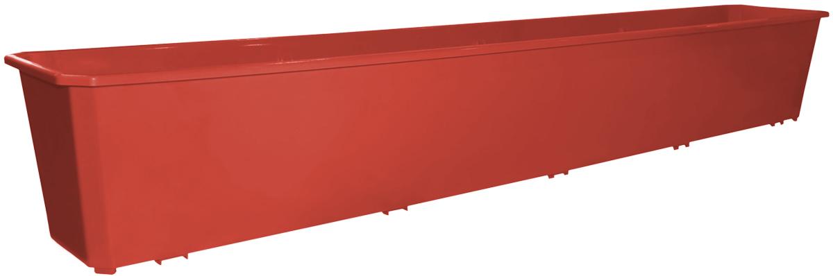 Ящик балконный InGreen, цвет: терракотовый, 100 х 17 х 15 см. ING1804ТР531-402Балконный ящик InGreen, изготовленный из высококачественного цветного пластика, предназначен для выращивания цветов и рассады как на балконе, так и в комнатных условиях.