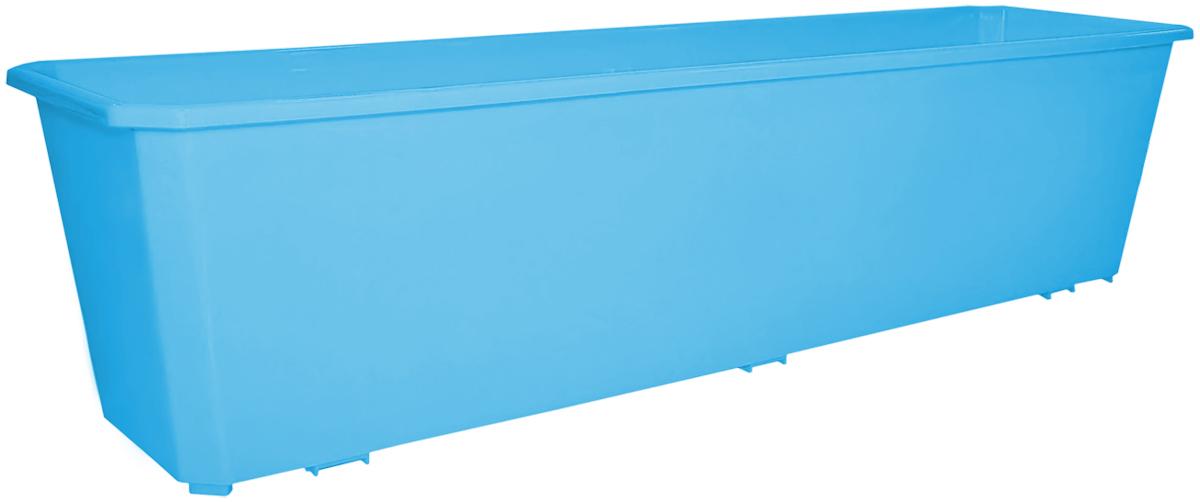 Ящик балконный InGreen, цвет: светло-синий, 60 х 17 х 15 см. ING1806СВСНING46012СЛ-16РSБалконный ящик InGreen, изготовленный из высококачественного цветного пластика, предназначен для выращивания цветов и рассады как на балконе, так и в комнатных условиях.
