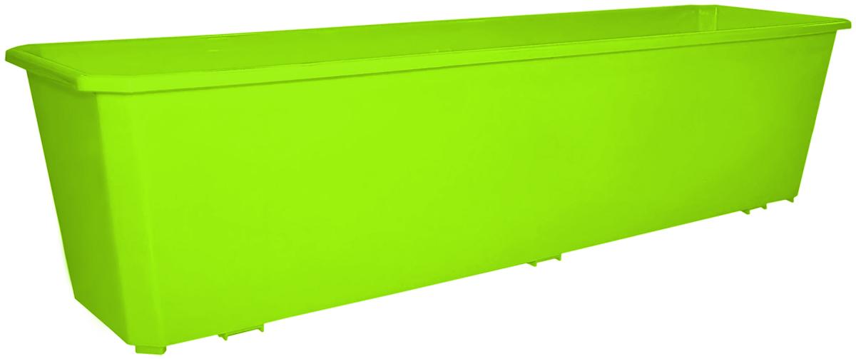 Ящик балконный InGreen, цвет: салатовый, 60 х 17 х 15 см. ING1806СЛZ-0307Балконный ящик InGreen, изготовленный из высококачественного цветного пластика, предназначен для выращивания цветов и рассады как на балконе, так и в комнатных условиях.