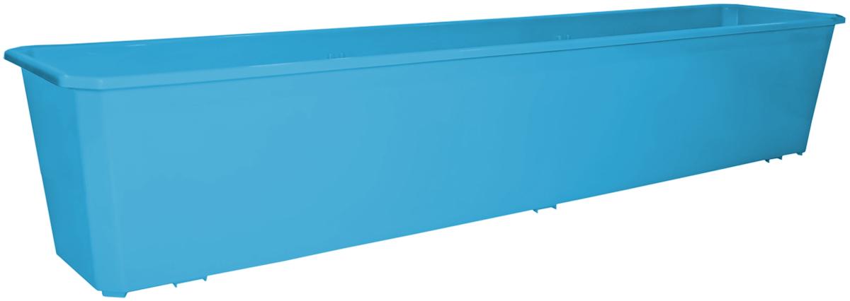 Ящик балконный InGreen, цвет: светло-синий, 80 х 17 х 15 см. ING1807СВСНING41028FТРБалконный ящик InGreen, изготовленный из высококачественного цветного пластика, предназначен для выращивания цветов и рассады как на балконе, так и в комнатных условиях.