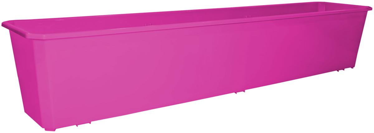 Ящик балконный InGreen, цвет: фуксия, 80 х 17 х 15 см. ING1807ФКСZ-0307Балконный ящик InGreen, изготовленный из высококачественного цветного пластика, предназначен для выращивания цветов и рассады как на балконе, так и в комнатных условиях.