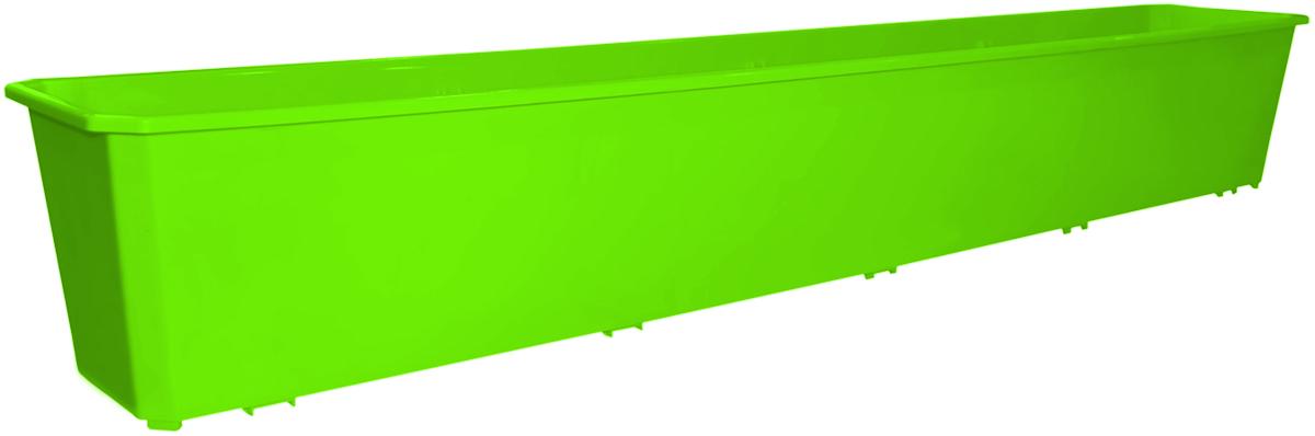 Ящик балконный InGreen, цвет: салатовый, 100 х 17 х 15 см. ING1808СЛ полироль защита очищающая doctor wax для старых покрытий 227 г