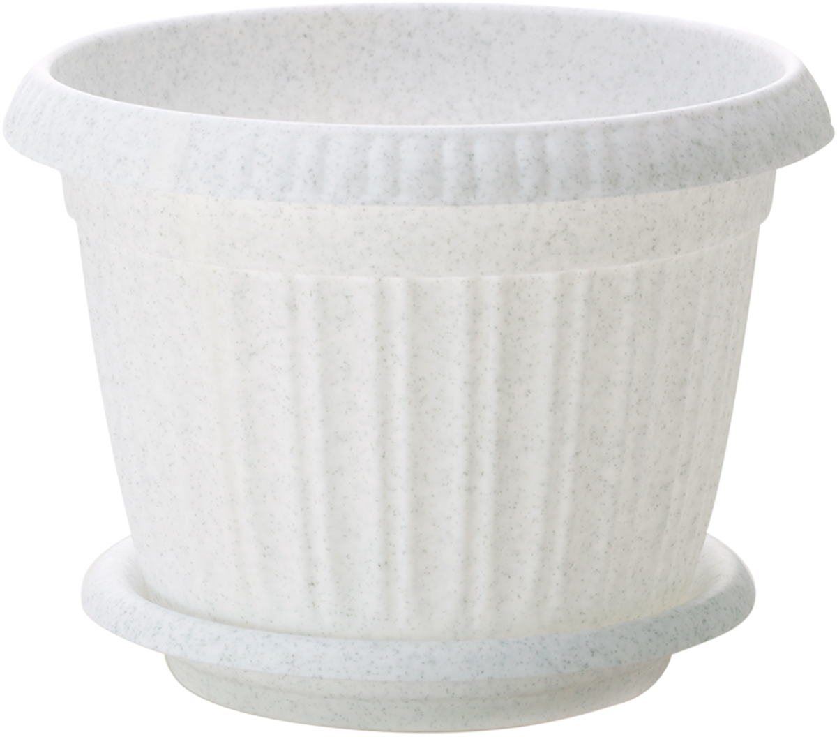 Горшок для цветов InGreen Таити, с подставкой, цвет: мраморный, диаметр 18 смING46012БЛ-16РSЛюбой, даже самый современный и продуманный интерьер будет не завершённым без растений. Они не только очищают воздух и насыщают его кислородом, но и заметно украшают окружающее пространство. Такому полезному &laquo члену семьи&raquoпросто необходимо красивое и функциональное кашпо, оригинальный горшок или необычная ваза! Мы предлагаем - Горшок для цветов с поддоном d=18 см Таити, цвет мраморный !Оптимальный выбор материала &mdash &nbsp пластмасса! Почему мы так считаем? Малый вес. С лёгкостью переносите горшки и кашпо с места на место, ставьте их на столики или полки, подвешивайте под потолок, не беспокоясь о нагрузке. Простота ухода. Пластиковые изделия не нуждаются в специальных условиях хранения. Их&nbsp легко чистить &mdashдостаточно просто сполоснуть тёплой водой. Никаких царапин. Пластиковые кашпо не царапают и не загрязняют поверхности, на которых стоят. Пластик дольше хранит влагу, а значит &mdashрастение реже нуждается в поливе. Пластмасса не пропускает воздух &mdashкорневой системе растения не грозят резкие перепады температур. Огромный выбор форм, декора и расцветок &mdashвы без труда подберёте что-то, что идеально впишется в уже существующий интерьер.Соблюдая нехитрые правила ухода, вы можете заметно продлить срок службы горшков, вазонов и кашпо из пластика: всегда учитывайте размер кроны и корневой системы растения (при разрастании большое растение способно повредить маленький горшок)берегите изделие от воздействия прямых солнечных лучей, чтобы кашпо и горшки не выцветалидержите кашпо и горшки из пластика подальше от нагревающихся поверхностей.Создавайте прекрасные цветочные композиции, выращивайте рассаду или необычные растения, а низкие цены позволят вам не ограничивать себя в выборе.