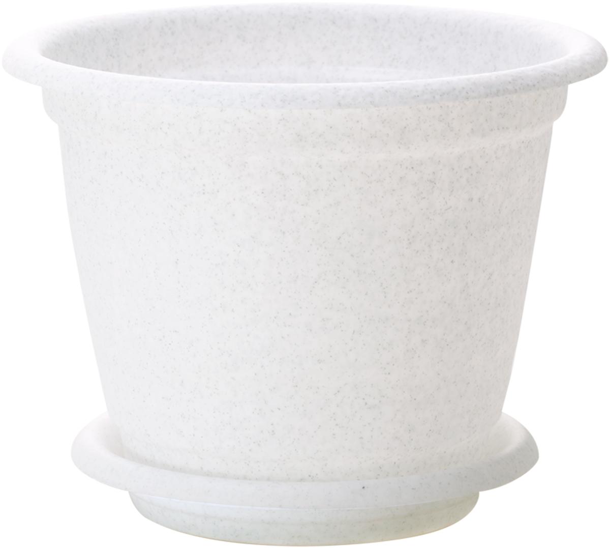 Горшок для цветов InGreen Натура, с поддоном, цвет: мраморный, диаметр 14 смPANTERA SPX-2RSЦветочный горшок с поддоном InGreen Натура, выполненный из высококачественного пластика, сочетает в себе классический дизайн и функциональность. Он станет прекрасным дополнением любого интерьера. Горшок имеет дренажные отверстия, что способствует выведению лишней влаги из почвы и предотвращает гниение корневой системы растения. Благодаря специальной крепежной системе поддон прочно крепится к горшку, что обеспечивает удобство эксплуатации изделия. Между стенкой горшка и поддоном есть зазор, который позволяет испаряться лишней влаге и дает возможность прикорневого полива растения. Горшок InGreen Натура предназначен для выращивания многолетних и однолетних растений.