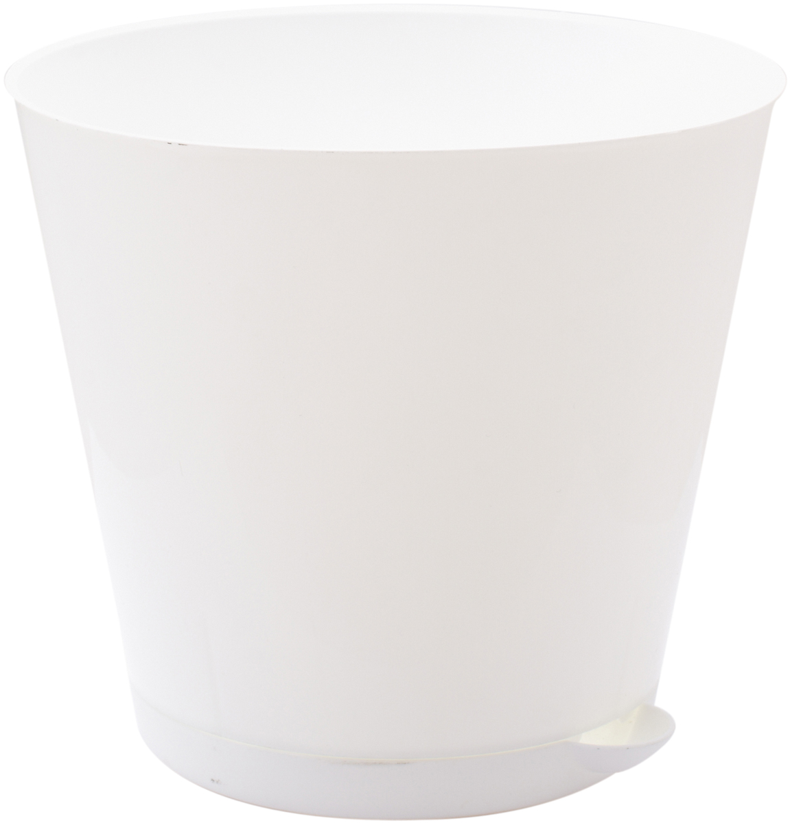 Горшок для цветов InGreen Крит, с системой прикорневого полива, цвет: белый, диаметр 16 смK100Цветочный горшок «Крит» -это поиск нового, в основе которого лежит целесообразность. Горшок лаконичный и богат яркими цветовыми решениями, отличается функциональностью. Специальная конструкция обеспечивает вентиляцию в корневой системе растения, а дренажная решетка позволяет выходить лишней влаге из почвы. Крепёжные отверстия и штыри прочно крепят подставку к горшку. Прикорневой полив растения осуществляется через удобный носик.