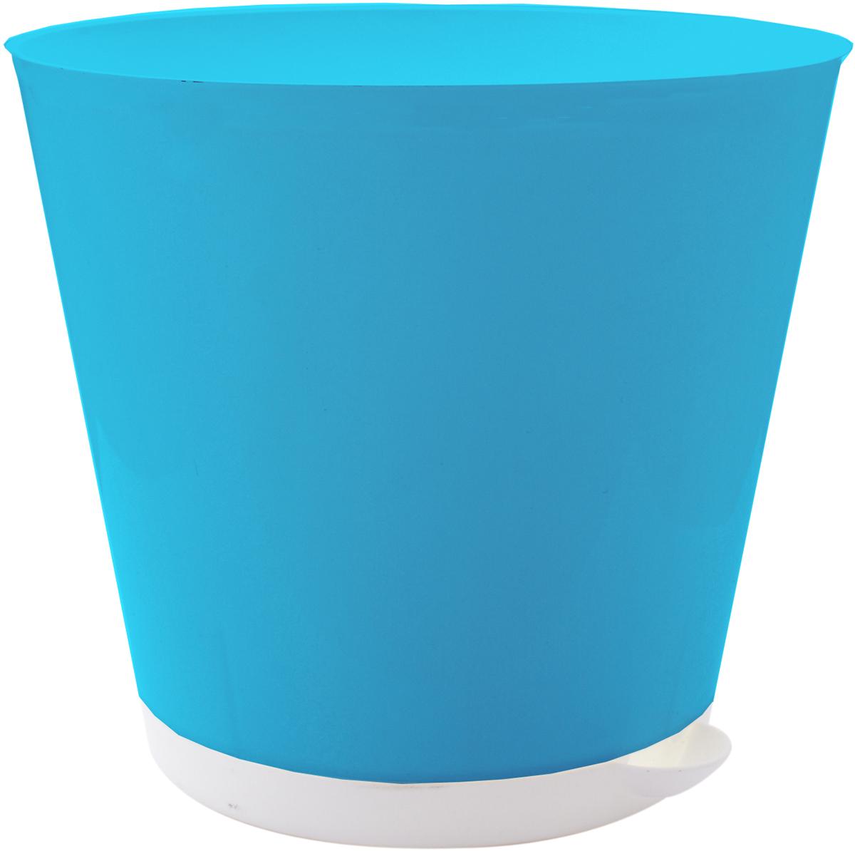 Горшок для цветов InGreen Крит, с системой прикорневого полива, цвет: светло-синий, белый, диаметр 22,6 смZ-0307Горшок InGreen Крит, выполненный из высококачественного пластика, предназначен для выращивания комнатных цветов, растений и трав. Специальная конструкция обеспечивает вентиляцию в корневой системе растения, а дренажные отверстия позволяют выходить лишней влаге из почвы. Крепежные отверстия и штыри прочно крепят подставку к горшку. Прикорневой полив растения осуществляется через удобный носик. Система прикорневого полива позволяет оставлять комнатное растение без внимания тем, кто часто находится в командировках или собирается в отпуск и не имеет возможности вовремя поливать цветы.Такой горшок порадует вас современным дизайном и функциональностью, а также оригинально украсит интерьер любого помещения. Объем: 5 л.