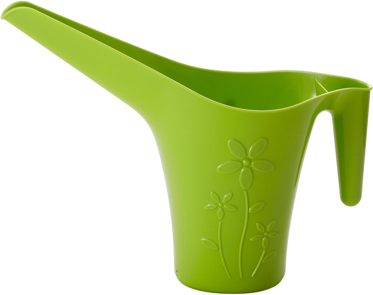 Лейка для полива комнатных цветов InGreen, цвет: салатовый, 1,7 лZ-0307Лейка InGreen выполнена из высококачественного пластика. Длинный носик лейки обеспечивает попадание воды непосредственно к основанию растения, а удобная ручка облегчает полив цветов. Оригинальный дизайн изделия и красочное исполнение создадут хорошее настроение.Такая лейка подойдет как для декора в саду, так и для полива цветов дома. Объем: 1,7 л.