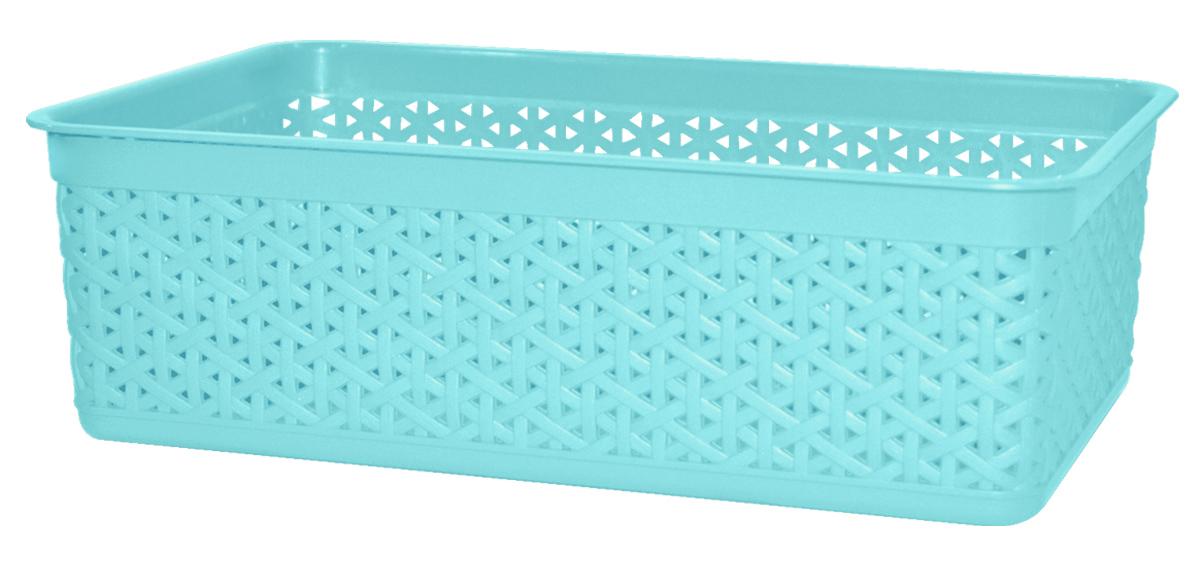 Корзина BranQ Natural Style, цвет: бирюзовый, 25,7 х 15,8 х 8 смS03301004Универсальная корзина BranQ Natural Style изготовлена из высококачественного цветного пластика с перфорацией. Она предназначена для хранения различных мелочей дома, на даче или в гараже. Позволяет хранить мелкие вещи, исключая возможность их потери. Элегантный выдержанный дизайн корзины позволяет ей органично вписаться в ваш интерьер и стать его элементом.