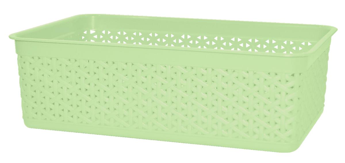 Корзина BranQ Natural Style, цвет: фисташковый, 25,7 х 15,8 х 8 смU210DFУниверсальная корзина BranQ Natural Style изготовлена из высококачественного цветного пластика с перфорацией. Она предназначена для хранения различных мелочей дома, на даче или в гараже. Позволяет хранить мелкие вещи, исключая возможность их потери. Элегантный выдержанный дизайн корзины позволяет ей органично вписаться в ваш интерьер и стать его элементом.