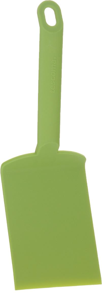 Лопатка для лазаньи Tescoma Space Tone, цвет: зеленый, длина 26 см391602Лопатка для лазаньи Tescoma Space Tone изготовлена из высококачественного термостойкого нейлона. Изделие оснащено эргономичной ручкой, которая не скользит в руках и делает ее использование удобным и безопасным. Ручка снабжена специальным отверстием для подвешивания. Подходит для всех видов посуды, особенно с антипригарным покрытием.Лопатка Tescoma Space Tone займет достойное место среди аксессуаров на вашей кухне.Можно мыть в посудомоечной машине.Длина изделия: 26 см. Размер рабочей поверхности: 12 х 8 см.