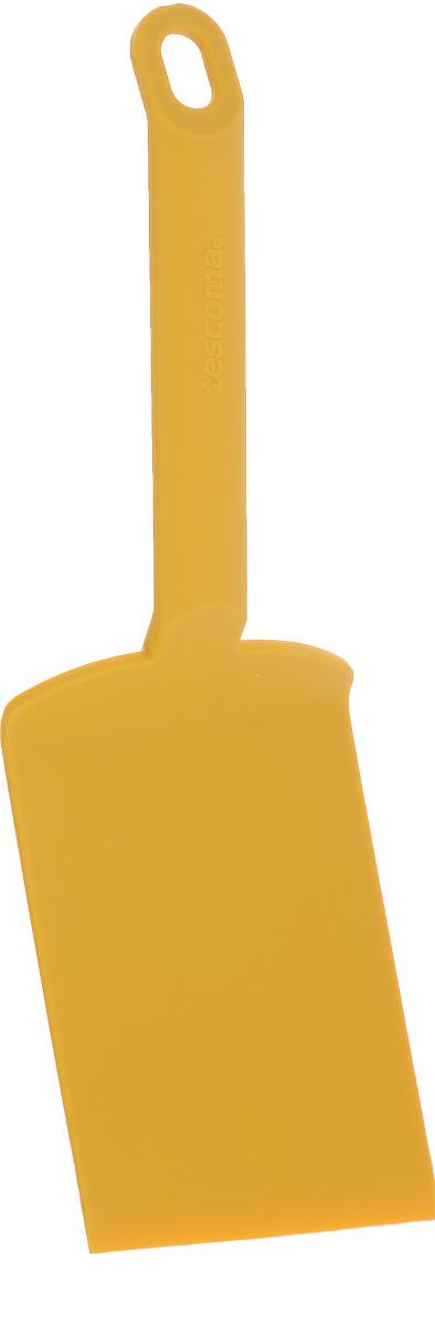 Лопатка для лазаньи Tescoma Space Tone, цвет: желтый, длина 26 см391602Лопатка для лазаньи Tescoma Space Tone изготовлена из высококачественного термостойкого нейлона. Изделие оснащено эргономичной ручкой, которая не скользит в руках и делает ее использование удобным и безопасным. Ручка снабжена специальным отверстием для подвешивания. Подходит для всех видов посуды, особенно с антипригарным покрытием.Лопатка Tescoma Space Tone займет достойное место среди аксессуаров на вашей кухне.Можно мыть в посудомоечной машине.Длина изделия: 26 см. Размер рабочей поверхности: 12 х 8 см.