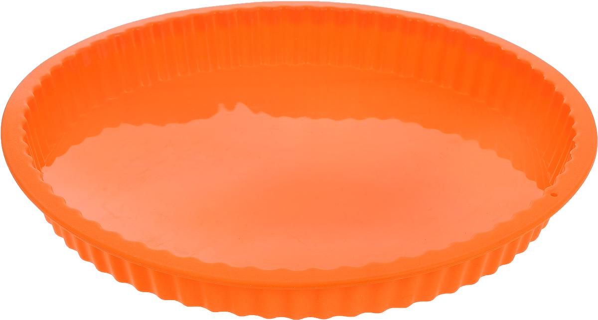 Форма для выпечки кекса Mayer & Boch, силиконовая, цвет: оранжевый, диаметр 27,5 см25.24.70_малиновыйКруглая форма Mayer & Boch будет отличным выбором для всех любителей выпечки. Благодаря тому, что форма изготовлена из силикона, готовую выпечку вынимать легко и просто. Стенки формы рифленые. Форма прекрасно подходит для выпечки кексов. С такой формой вы всегда сможете порадовать своих близких оригинальной выпечкой. Материал изделия устойчив к фруктовым кислотам, может быть использован в духовках, микроволновых печах, холодильниках (выдерживает температуру от -40°C до 230°C). Антипригарные свойства материала позволяют готовить без использования масла.Можно мыть в посудомоечной машине. Внешний диаметр: 27,5 см.Высота стенок: 3 см.