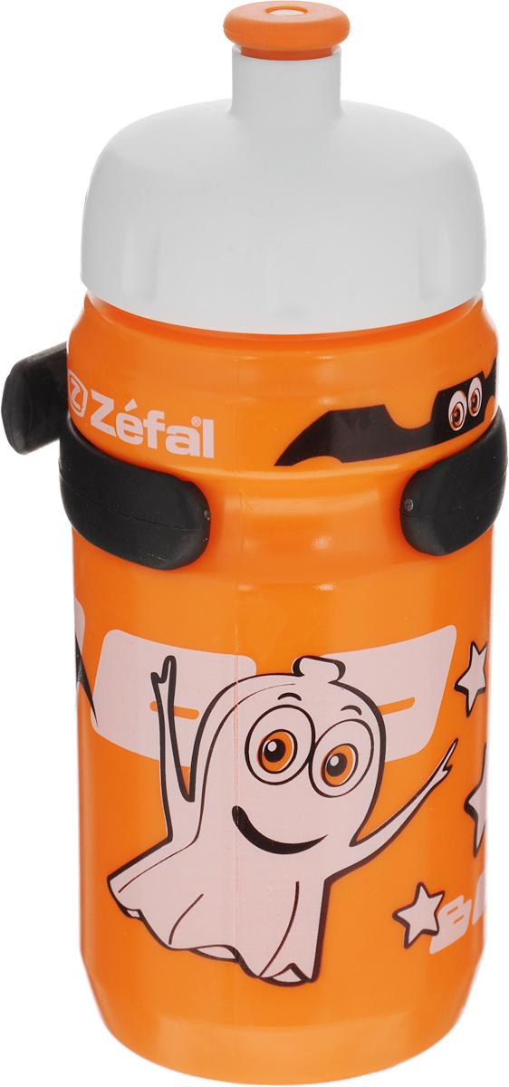 Фляга велосипедная детская Zefal Little Z, цвет: оранжевый, 350 млMW-1462-01-SR серебристыйВелосипедная фляга для детей Zefal Little Z изготовлена из пищевого пластика (без использования бисфенола и ПВХ). Внешние стенки изделия декорированы рисунком в виде привидения и летучих мышей. Фляга снабжена специальным клапаном для удобного питья. Винтовая крышка с легкостью откручивается, а широкое горлышко позволяет аккуратно наполнять фляжку. Фляга снабжена специальным держателем для крепления к велосипеду. Высота фляги: 15,8 см.