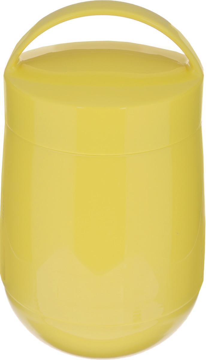 Термос для продуктов Tescoma Family, цвет: желтый, 1,4 л310564_желтыйТермос для продуктов Tescoma Family предназначен для хранения и переноски теплых и холодных блюд.Термос имеет две пластиковые емкости. Продукты можно хранить непосредственно в стеклянной колбе либо в пластиковых емкостях, которые вкладываются в изоляционную колбу. Особо рекомендуем использовать пластиковые емкости для продуктов с высоким содержанием жиров, сахара либо кислот, а также блюд, которые тяжело отмываются со стенок стеклянной колбы. Нейтральные продукты можно хранить непосредственно в изоляционной колбе.Термос имеет удобную ручку для транспортировки. Не рекомендуется мыть в посудомоечной машине.Диаметр малой чаши: 12 см.Высота малой чаши: 4,5 см.Диаметр большой чаши: 12 см.Высота большой чаши: 16,5 см.Диаметр термоса: 11,5 см.Высота термоса без учета крышки: 19,5 см.