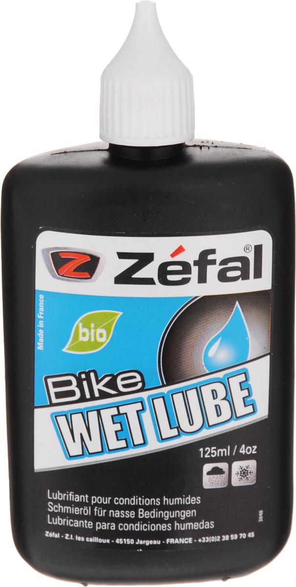 Смазка для велосипедной цепи Zefal Wet Lube, для влажной погоды, 125 мл