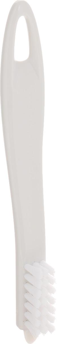 Щетка для чистки овощей Tescoma Presto, цвет: белый, длина 18,5 см790009Щетка Tescoma Presto, выполненная из прочного пластика, отлично подходит для очистки картофеля, корнеплодов, фруктов, грибов и многого другого. Изделие имеет острый конец для удаления глазков и скребок для удаления грязи.Не рекомендуется мыть в посудомоечной машине.