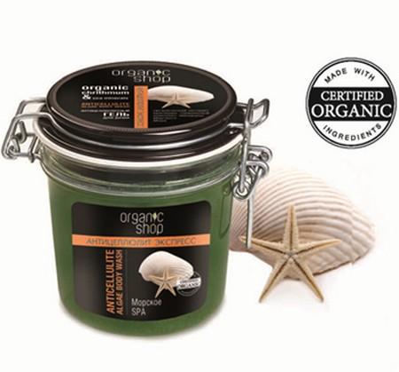 Organic Shop Гель для тела Антицеллюлитное морское спа, 350 млFS-00897Organic Shop Гель для душа антицеллюлитный морское спа 350мл. Легкий гель с приятной текстурой обладает интенсивным антицеллюлитным действием благодаря активным компонентам, входящим в его состав. Органический экстракт критмума оказывает мощный лимфодренажный эффект, предупреждает появление целлюлита. Минералы мертвого моря способствуют оттоку жидкости из тканей, улучшают структуру кожи, которая постепенно приобретает тонус, мягкость и гладкость. Термальный комплекс укрепляет структуру кожи, выравнивая ее.