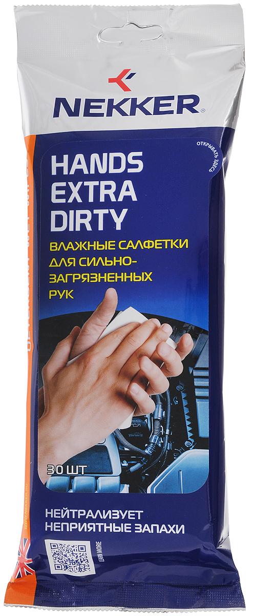 Салфетки влажные Nekker, для очистки сильнозагрязненных рук, 30 шт1651Влажные салфетки Nekker из мягкого нетканого материала предназначены для очистки рук от сильных загрязнений (бензин, копоть, мазут, гудрон, подсохшее масло). Комплекс современных растворителей и натуральных масел эффективно очищает и одновременно смягчает руки. Особенности: - Нейтрализуют запах загрязнений. - Не раздражают кожу рук. - Придают рукам приятный запах. - Эффективная формула очищения очень сильных загрязнений. - Не оставляют липкости на руках после использования. Пропитывающий состав: пропиленгликоль, композиция неионогенных ПАВ, изопропанол, смягчающие добавки, тетранатрий ЭДТА, консервант, ароматическая композиция, вода деминерализованная. Товар сертифицирован.
