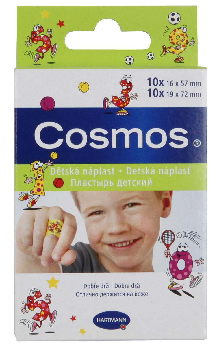 Hartmann Пластырь Cosmos Kids, с рисунком, 2 размера, 20 штБУ-00000316Пластырь Hartmann Cosmos Kids с веселыми картинками разработан специально для детей.Пластырь изготовлен из эластичной пленки и оформлен изображениями веселых животных. Он развеселит малыша и надежно защитит ранку или ссадину от попадания грязи и бактерий. Пластырь устойчив к воде и обладает отличной воздухопроницаемостью. Внутренняя подушечка с высокими абсорбирующими свойствами надежно впитывает кровь. Жидкость поглощается и блокируется, поэтому рана остается сухой.Не приклеивается к ране, удаляется без боли и без остатков.Гипоаллергенный и безопасный пластырь Hartmann Cosmos Kids станет незаменимым помощником в маминой аптечке.В набор входят 20 пластинок пластыря двух размеров (по 10 штук каждого размера).