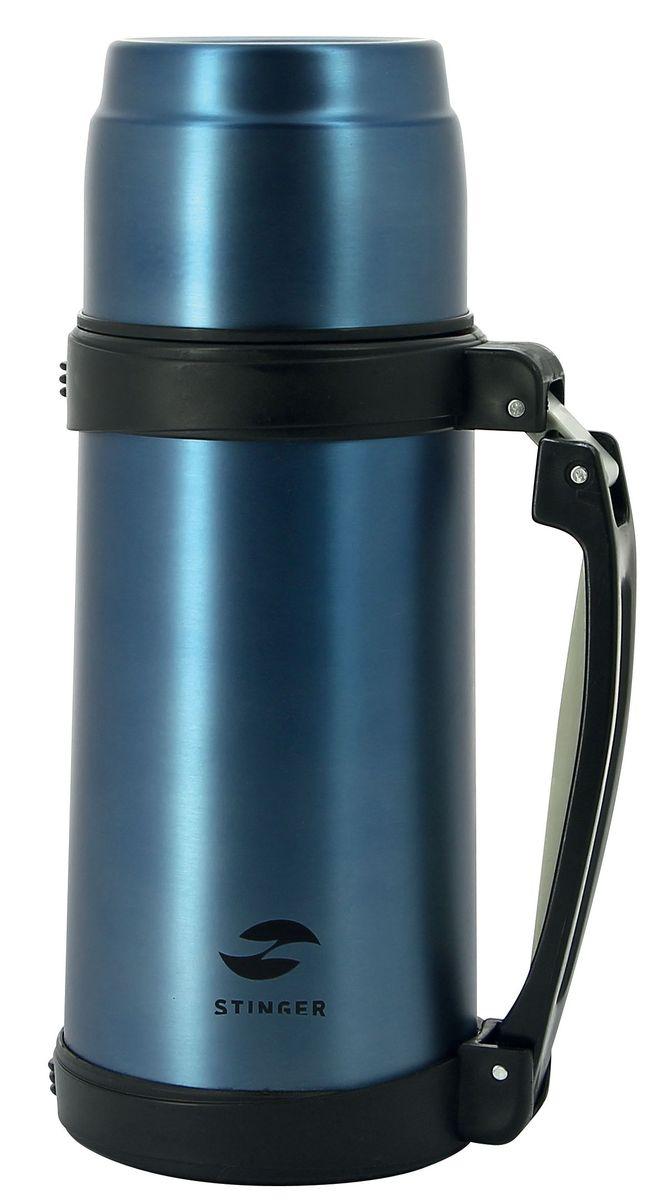 Термос Stinger, цвет: синий, 0,8 лHY-TP205-1Термос Stinger изготовлен из высококачественной нержавеющей стали с матовой полировкой. Двойная колба из нержавеющей стали сохраняет напитки горячими или холодными до 24 часов, после24 часов температура наполнения сохраняется на отметке 53°C. Термос еще удобен и тем, что нет необходимости полностью откручивать пробку. Чтобы налить напиток, просто нажмите кнопку. Крышку можно использовать в качестве кружки, ее внутренняя поверхность имеет отделку пластиком, гигиенична и легка в очистке. В комплекте с термосом идет ремешок, который можно прикрепить к специальным крепежам на термосе, что делает его еще более удобнымУдобный, компактный и практичный термос пригодится в путешествии, походе и поездке. Диаметр горлышка: 5 см. Диаметр основания термоса: 10,5 см. Высота термоса: 26,5 см.