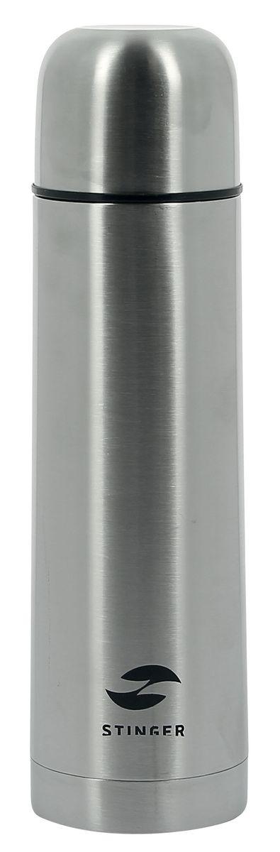 Термос Stinger, 750 млHY-VF102-2Термос Stinger изготовлен из высококачественной нержавеющей стали с матовой полировкой. Двойная колба из нержавеющей стали сохраняет напитки горячими или холодными до 24 часов, после 24 часов температура наполнения сохраняется на отметке 50°C. Термос еще удобен и тем, что нет необходимости полностью откручивать пробку. Чтобы налить напиток, просто нажмите кнопку. Крышку можно использовать в качестве кружки, ее внутренняя поверхность имеет отделку пластиком, гигиенична и легка в очистке. Удобный, компактный и практичный термос пригодится в путешествии, походе и поездке. Диаметр горлышка: 5 см. Диаметр основания термоса: 8 см. Высота термоса: 26,5 см.