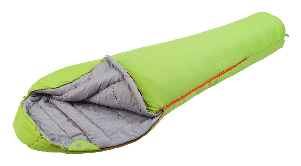 Спальный мешок TREK PLANET Yukon, цвет: салатовый, правосторонняя молния70337-RТеплый, комфортный 3-х сезонный спальник-кокон TREK PLANET Yukon предназначен как для весенне-осенних длительных походов и активного отдыха, так и для использования при низких зимних температурах. Утеплен двумя слоями техничного 4-канального волокна Hollow Fiber. Внешний материал: усиленный полиэстер Ripstop, внутренняя ткань: мягкий полиэстер (Pongee).ОСОБЕННОСТИ СПАЛЬНИКА:- Конструкция капюшона и спальника анатомической формы,- Удобный глубокий капюшон,- 4-канальный наполнитель Hollow Fiber,- Внешний материал: усиленный полиэстер RipStop,- Внутренняя ткань: мягкий полиэстер (Pongee),- Молния имеет два замка с обеих сторон,- Тепловой ворот,- Термоклапан вдоль молнии,- Внутренний карман,- Возможно состегивание спальников между собой (левая молния: артикул 70337-L),- К спальнику прилагается компрессионный чехол из прочного полиэстера для удобного хранения и переноски. t° комфорт: -3°Ct° лимит комфорта: -12°Ct° экстрим: -21°C.Материал: 100% полиэстер/полиэстер RipStopВнутренний материал: 100% полиэстерУтеплитель: Hollow Fiber 4Н 2 x 225 г/м2.Размер: 230 х 85(55) см.