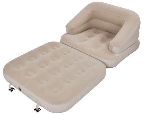 Кресло-кровать Jilong Single, трансформер, цвет: бежевыйJL037285NНадувное кресло-кровать Jilong Single выполнено из высококачественного ПВХ с водоотталкивающим флоковым покрытием, предотвращающим соскальзывание простыни. Конструкция с внутренним каркасом обеспечивает жесткость. Кресло имеет 5 различных конфигураций.Сдержанный дизайн и нейтральные цвета подходят к любому интерьеру и делают надувное кресло отличным выбором для домашнего использования. Кресло простое в использовании, очень комфортное, не занимает много места при хранении.В комплекте заплатка.Размер кровати: 185 х 96 х 59 см.