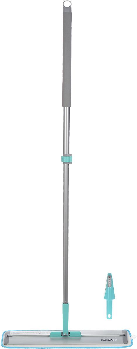 Швабра Hausmann Cosmic Home, с телескопической ручкой, длина 85-135 см531-105Швабра Hausmann Cosmic Home, выполненная из металла и пластика, предназначена для сухой и влажной уборки в доме. Изделие оснащено удобной телескопической ручкой. На конце ручки имеется специальная петля, благодаря которой швабру можно подвесить в любом удобном месте. Особенностью данной швабры является слайд-механизм основания, который удлиняет платформу, позволяя очистить пространства под стоящими на полу предметами, кроватями, тумбочками.Сменная насадка выполнена из микрофибры, которая впитывает воду и грязь подобно губке. Мягкая поверхность насадки глубоко очищает и не оставляет разводов и царапин на полу. Длина ручки: 85-135 см.Размер насадки: 54 х 12,5 см.
