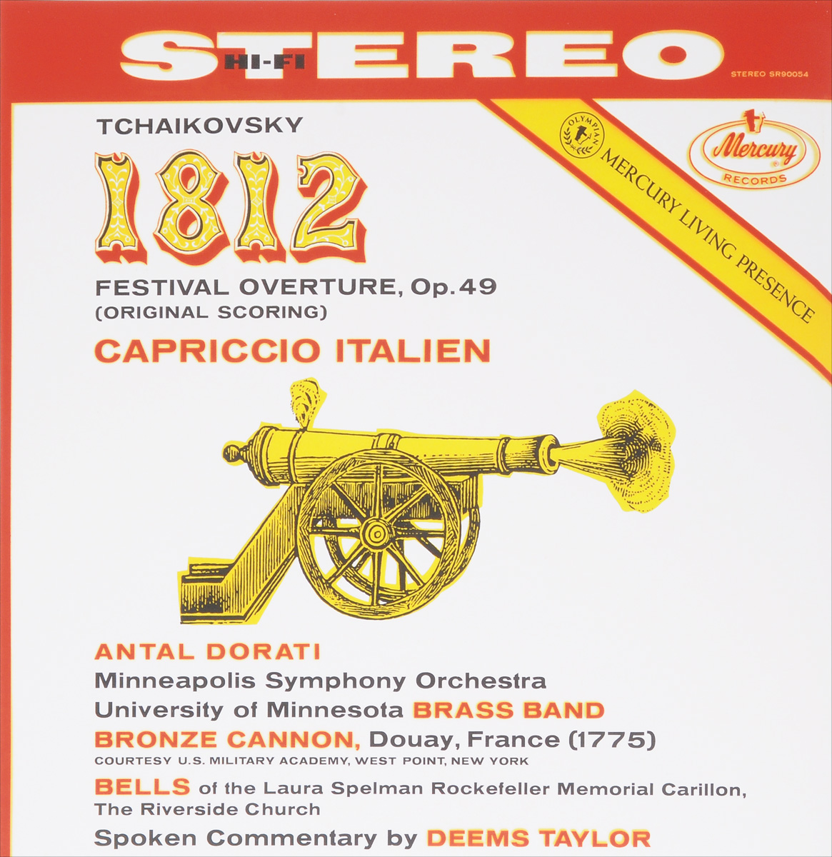 Антал Дорати,Minneapolis Symphony Orchestra,University Of Minnesota Brass Band Bronze Cannon,Laura Spelman Rockefeller Memorial Carillon, The Riverside Church Antal Dorati. Tchaikovsky. 1812. Festival Overture, Op. 49 / Capriccio Italien